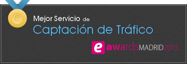 T2O media Mejor Servicio de Captación de Tráfico 2013 - eAwards 2013