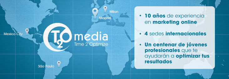 Las sedes de T2O media en el mundo