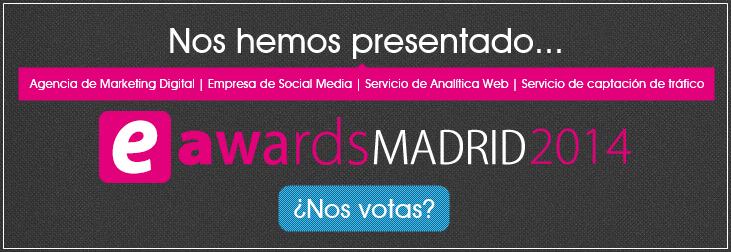 T2O media candidata a los eAwards Madrid 2014