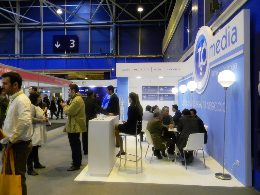 stand T2O media en E-comm Marketing Madrid 2011