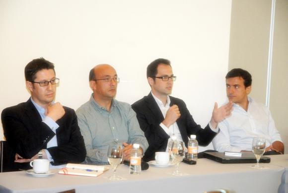 Óscar Alonso, Antonio Fernández, Luis Garriga, John Farrell